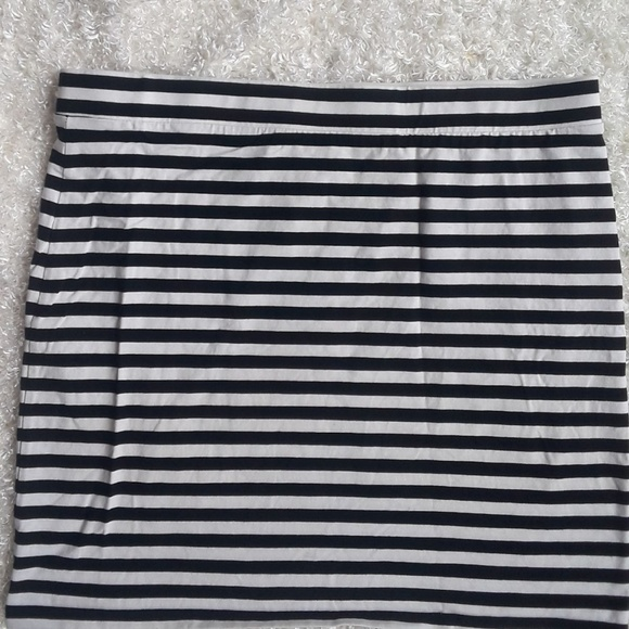 ee6c6298d H&M Skirts | Divided H M Mini Skirt Black White Large Strip | Poshmark